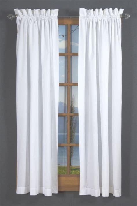 hemstitch rod pocket curtains white thecurtainshop