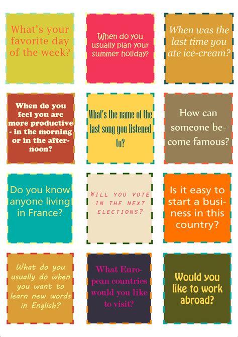 conversation cards  handouts