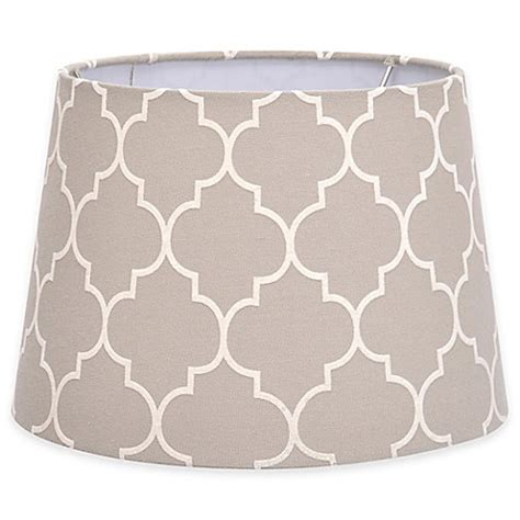7 inch l shade buy flocked linen small 7 inch l shade in grey white