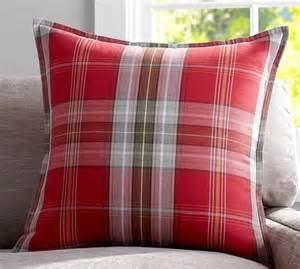 pottery barn large decorative pillows newburry plaid pillow cover pottery barn