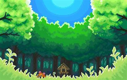 Pixel Games Pokemon Background Forest Wallpapers Backgrounds