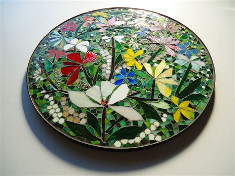 mosaic decor on sale floral mosaic art wall decor or table top 24