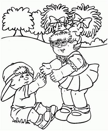 Coloring Pages Cabbage Patch Crying Sheets Doll