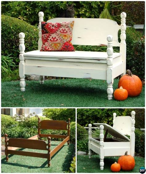 diy bed frame garden bench projects picture instructions