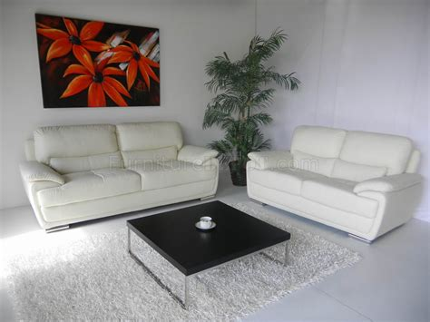 White Sofa And Loveseat by White Leather Modern Sofa Loveseat Set W Options