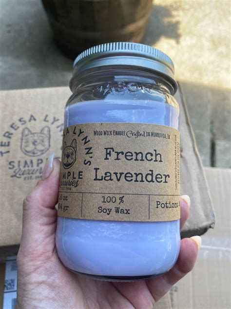 french lavender candle wood wick woodwick soy candle