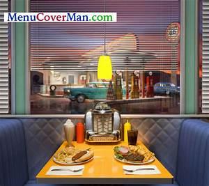 American Diner Wallpaper : clear edge fabric spine sewn double stitched menu covers retro nostalgia 50 39 s jukebox menu ~ Orissabook.com Haus und Dekorationen