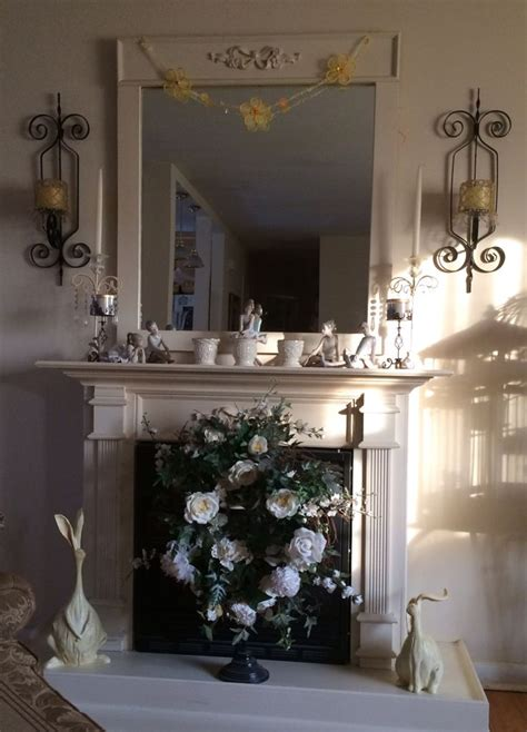 shabby chic easter decor shabby chic fireplace with easter decor my items pinterest shabby chic fireplace decor