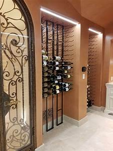 A, Stunning, Floor, To, Ceiling, Metal, Wine, Rack, Display, In, Irvine, California, Coastal, Custom, Wine