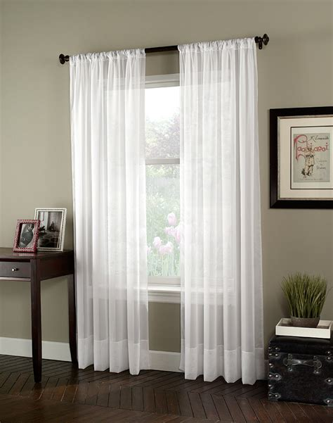 White Sheer Voile Curtains by Photos Soho Voile Lightweight Sheer Curtain Panel