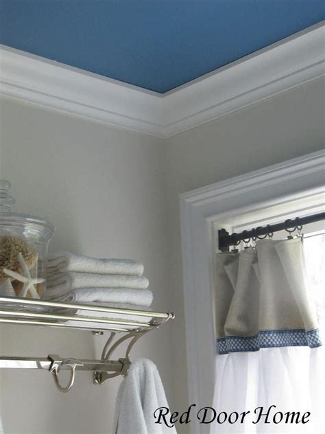 Bathroom Ceiling Color Ideas laundry room with blue ceiling and gray walls things