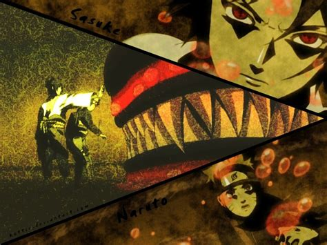 uchiha sasuke naruto shippuden kyuubi uzumaki naruto