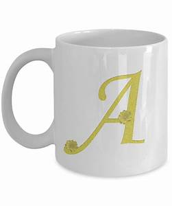 alphabet letter flower coffee mug cup With coffee cups with letters