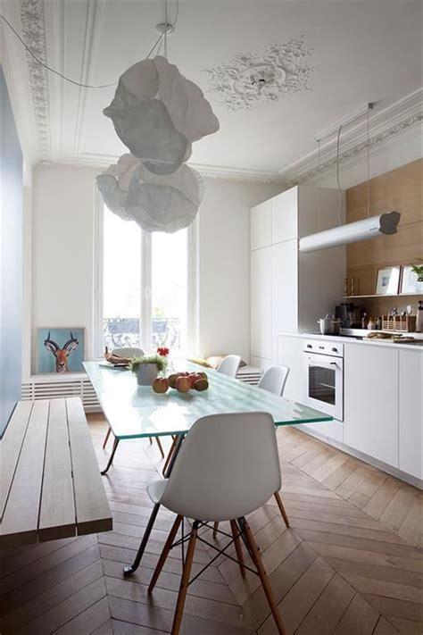banc de cuisine design banc dans cuisine contemporaine apparetement hausmanien