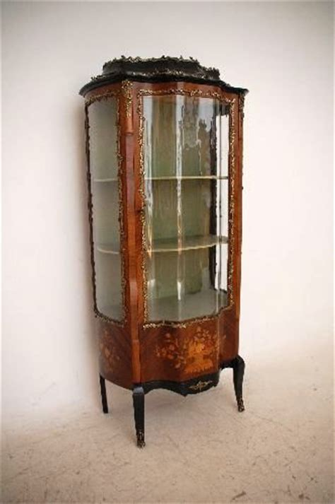 Antique French Rosewood & Marquetry Vitrine Display