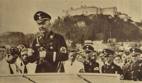 Heinrich Himmler Speaking To The Ss. In The Background You