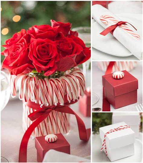 candy cane wedding reception ideas