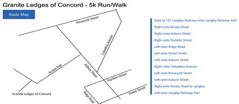 5k race to the ledges concord new hshire 5k walk