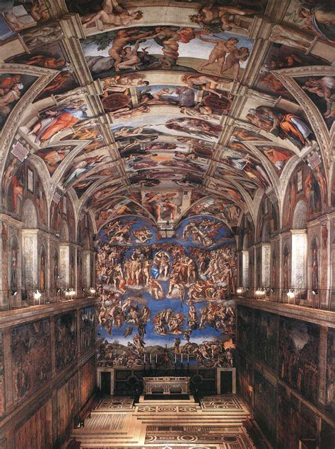 Painted The Ceiling Of The Sistine Chapel In Rome by Bytes Statue Week Some Michelangelo Factlets