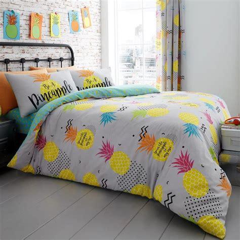 ananas copripiumino reversibile bambini adulti biancheria da letto ebay