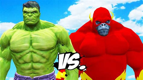 Flash vs Hulk
