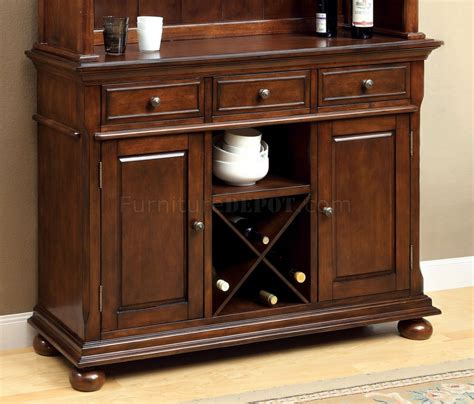 Cm3558hb Descanso Dining Buffet With Hutch In Brown Cherry