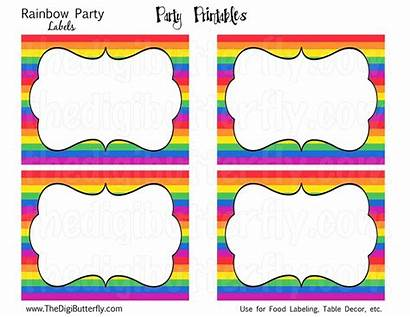 Labels Templates Rainbow Party Printable Label Template