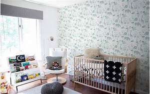 Chambre Garcon Bleu Et Gris : papier peint animaux safari d co chambre gar on ~ Dode.kayakingforconservation.com Idées de Décoration