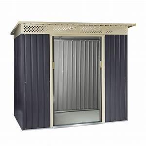 Gartenhaus 2 50x2 50 : ger tehaus gartenhaus bristol metall 2 4 qm anthrazit ~ Whattoseeinmadrid.com Haus und Dekorationen