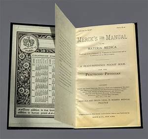 Photo Of The Front Pages Of The First Edition Of Merck S