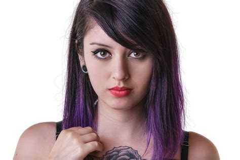 Girl With Tattoos And Dyed Hair Wallpapers And Images
