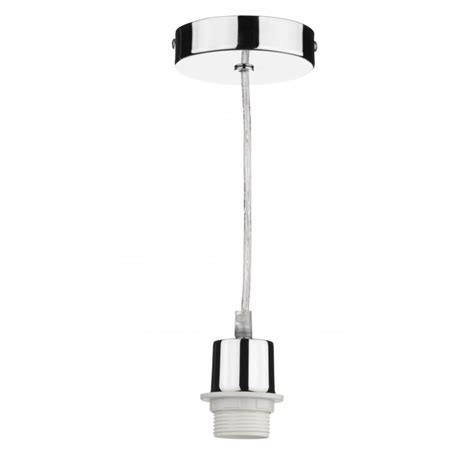 chrome pendant light suspension set to fit es bulbs clear