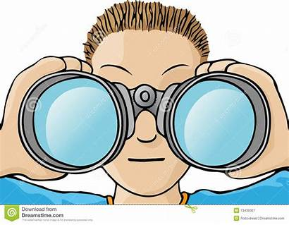 Binoculars Clipart Child Eyes Looking Binocular Eye