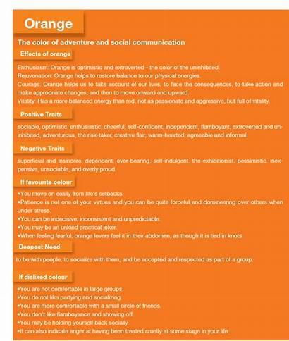 Orange Psychology Meaning Personality Colour Aura Negative