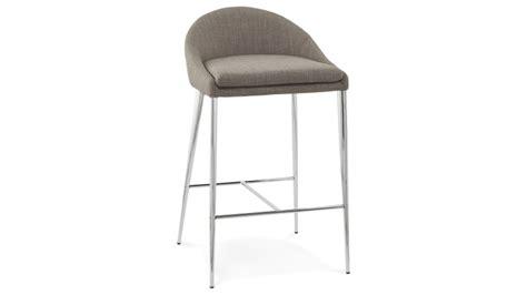tabouret de bar snack chaise haute grise 67 cm kimo gdegdesign
