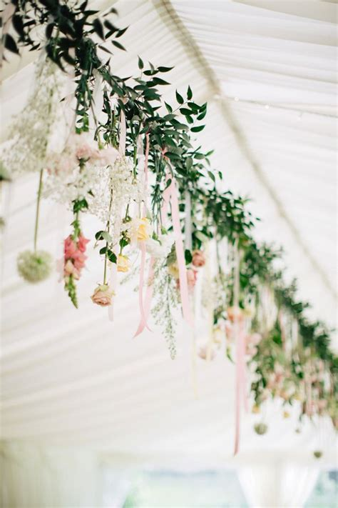 ideas  hanging flowers wedding  pinterest