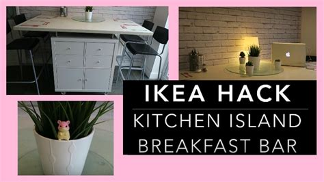 how to build a kitchen island bar ikea hack diy kitchen island breakfast bar storage unit
