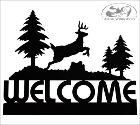 deer welcome sign amish workshops