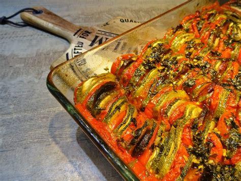 tian de courgettes au chorizo la recette facile par