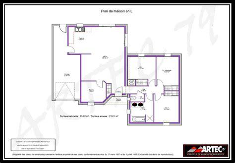 plan maison 100m2 4 chambres plan maison plain pied 100m2