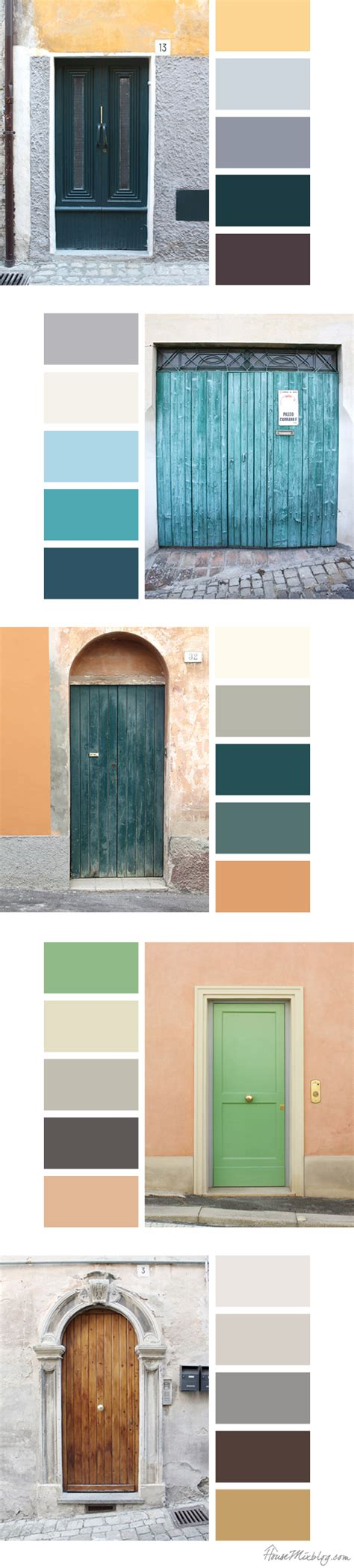 italian door color palette inspiration house mix