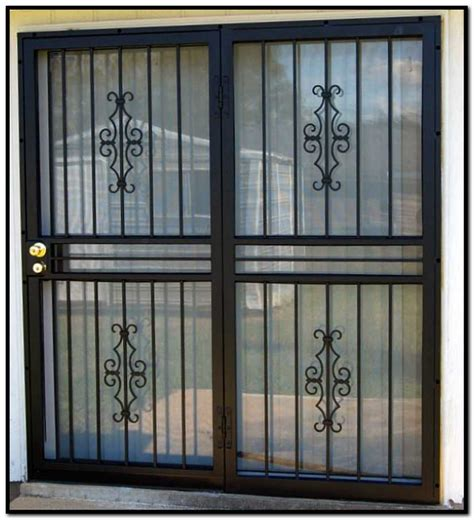 security bars for sliding doors burglar bars for sliding glass doors gallery doors design