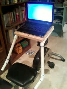 laptop desk for stationary recumbent exercise bicycle do