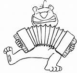 Accordion Coloring Playing Pages Chipmunk sketch template