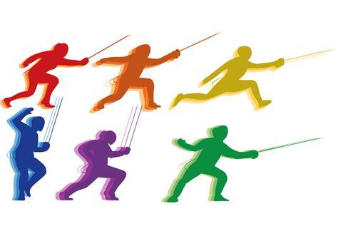 fencing  sport vector   vectors clipart