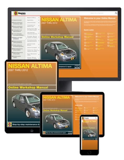 chilton car manuals free download 2007 nissan altima parking system nissan altima online service manual 2007 2012