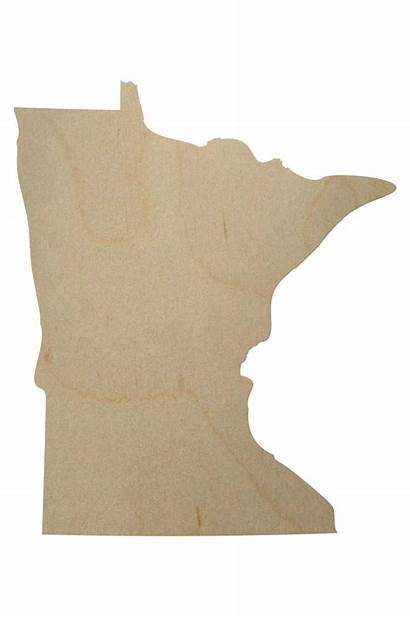 Minnesota State Shape Wood Cutout Shapes Wooden