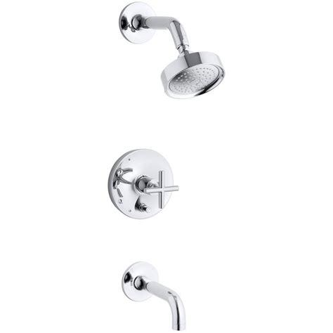 kohler purist  handle single spray tub  shower faucet