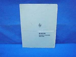 Hp 340a Noise Figure Meter Operating  U0026 Service Manual