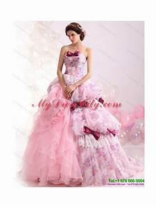 multi color ball gown ruffles colored wedding dresses with With multi colored wedding dresses